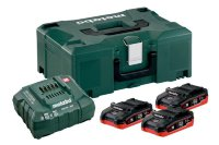 Базовый комплект Metabo 18 В LiHD 3х3,5Ач + ЗУ ASC 30-36V AIR COOLED + Metaloc  685100000