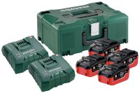 Базовый комплект Metabo 18 В LiHD 4х7,0Ач + ЗУ 2хASC ULTRA AIR COOLED + Metaloc  685111000