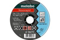 Отрезной круг Metabo 125х1,0х22,23мм Novorapid Inox A 46-T прямой  616271000